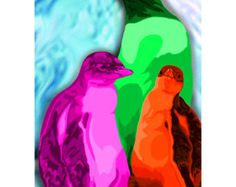 Neon Penguins...rock on