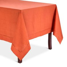 d685534053bc Hemstitched Tablecloth Persimmon (72