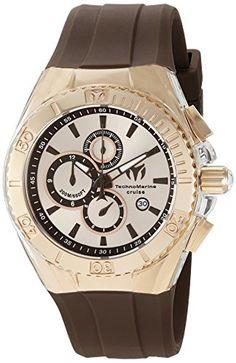 3e5acd4f13d Men s Wrist Watches - Technomarine Mens TM115217 Cruise Star Analog Display  Quartz Brown Watch