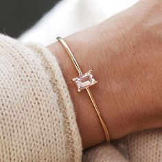 Princess Lucy Cuff with light pink morganite by mumbaistockholm