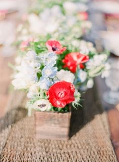 red white and blue wedding / Michelle March Photography