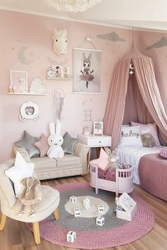 Toddler Girl Bedroom Decor Fun Girls Bedroom Decor Ideas Cute Room Decorating In Pink For Girls Toddler Girl Room Decorating Ideas Diy Daughters Room, Baby Bedroom, Girl Toddler Bedroom, Kids Bedroom Ideas For Girls Toddler, Girls Pink Bedroom Ideas, 4 Year Old Girl Bedroom, Room Decor For Girls, Toddler Girls, Girls Bedroom Canopy