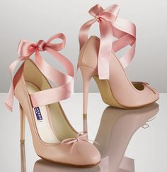 The Terrier and Lobster: The Daily Bauble: Ralph Lauren Resort 2014 Barton Pink Ballet Toe Shoe Pump