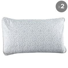 Set of 2 Navy Fleck Pillowcases - Fictional Objects - Fictional Objects