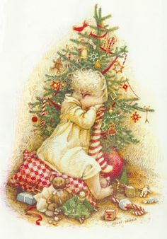 Holly Hobbie. @Debra Lutz - A pinner I follow just pinned this. This image is in the Holly Hobbie Christmas book you gave me when I was 5 or 6. Over 30 years ago! :)
