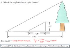Use Shadow of a Tree to Calculate Height - Land Surveyors United