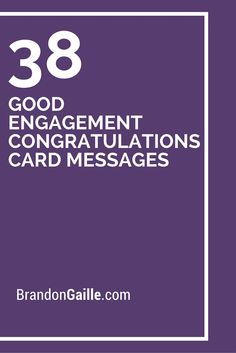 38 Good Engagement Congratulations Card Messages