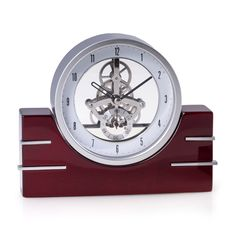Bey Berk Rio de Janeiro Skeleton Desk Clock