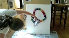 Melted Crayon Art - want to do the heart, and maybe black paint