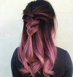 Hair is an important material primarily composed of protein, notably keratin. Hair care is your hair type. Your hair goals. Your favorite hair color Here you find all the possible methods to have perfect hair. Dye My Hair, New Hair, Half Dyed Hair, Dip Dye Hair, Coloured Hair, Crazy Hair, Pretty Hairstyles, Pink Hairstyles, Latest Hairstyles