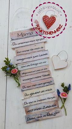 Wanddeko - Dekoschild - Mama - zum Muttertag, Geburtstag usw - ein Designerstück von Puenktchenherz bei DaWanda