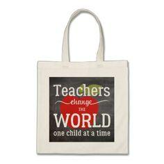 #School teacher red apple blackboard script quote tote bag - #Teacher #Appreciation #Gifts