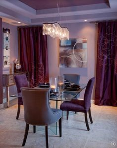 New Obsession: Purple Velvet and Zebra | Purple dining chairs ...