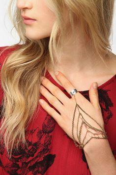 Ara Ring-To-Wrist Bracelet  #UrbanOutfitters