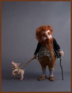 I'm grateful for my best friend Jim - the best damn leprechaun this side of the diaspora. Woodland Creatures, Magical Creatures, Fantasy Creatures, Dragons, Kobold, Elves And Fairies, Hobgoblin, Polymer Clay Dolls, Love Fairy