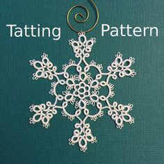 "Snowflake Tatting Pattern ""Winter Frost"" - PDF - Instant Download"