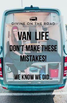 Avoid making these #vanlife mistakes! Sprinter Van Conversion, Camper Van Conversion Diy, Van Conversion Checklist, Van Conversion With Bathroom, Ford Transit, Vw Bus, Van Life, Kangoo Camper, Sprinter Camper