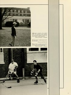 Athena Yearbook, 1995. Some students play soccer, while other students play hockey. :: Ohio University Archives