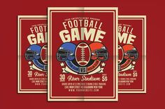 American Football Game Flyer by muhamadiqbalhidayat on @creativemarket