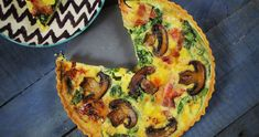 Quiche, Diy Food, Vegetable Pizza, Meal Prep, Bakery, Food Porn, Bacon, Healthy Recipes, Meals