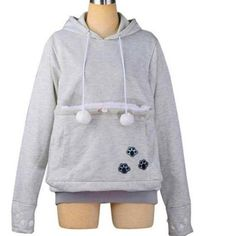 CAT LOVERS HOODIE WITH CAT CUDDLE KANGAROO POUCH