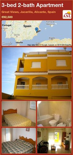 3-bed 2-bath Apartment in Great Views, Jacarilla, Alicante, Spain ►€92,500 #PropertyForSaleInSpain