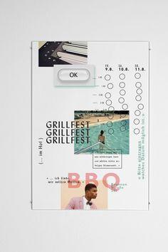 Typographic poster by Patrick Dreier