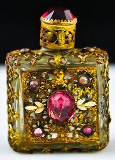 Czech filigree perfume bottle