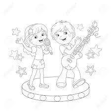 Resultado De Imagen Para Dibujo De Ninos Cantando Para Colorear Dibujos Para Ninos Ninos Cantando Ninos