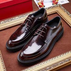 Buy Ferragamo Derby Shoe that is backed up with a strong warranty, fast shipping, satisfy guaranteed. Mens Smart Shoes, Best Shoes For Men, Mens Suede Boots, Black Leather Shoes, Salvatore Ferragamo, Gents Shoes, Mens Derby Shoes, Gentleman Shoes, Mens Fashion Shoes