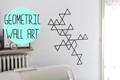 DIY:Geometric wall art with washi tape - decorazione da muro con ...