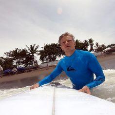 Surfing at Berawa beach on Bali, Indonesia. Wetsuit, Surfing, How To Memorize Things, Polo Shirt, Polo Ralph Lauren, Inspired, Beach, Swimwear, Mens Tops