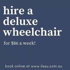 We offer deluxe wheelchair rentals at $86 a week.    Book online here : http://ilsau.com.au/hire/product/wheelchair-tilt-in-space-hire-deluxe/  #IndependentLivingSpecialists #ILS #MoblitySolutions #MobilitySolutionsAustralia #WheelchairsAustralia