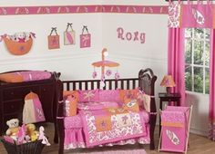 Surf Board Pink Tropical Hawaiian Baby Bedding! It offical this is my nursery decore!-tina rae