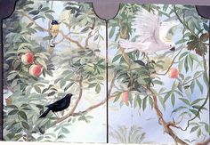Michael Dillon ~ detail of painted screen