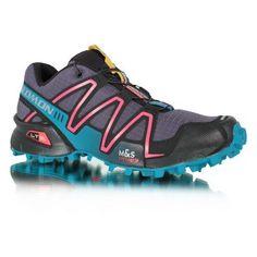Salomon Women's Speedcross 3 Trail Running Shoe,Asphalt/Dark Bay Blue/Cerise,7.5 M US