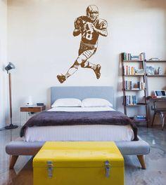 Football Player Wall Decal Football Sticker Rugby Football Wall Decor Art ik911  #StickerForLife #Modern