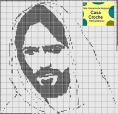 Jesus croche filé \ Ponto Cruz