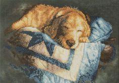 16-14 Cross Stitch Kit Cute dog art