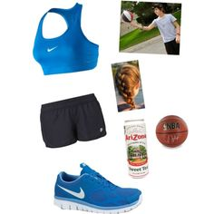 Playing Basketball with Austin