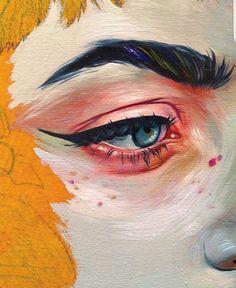 oleo, realistic eye