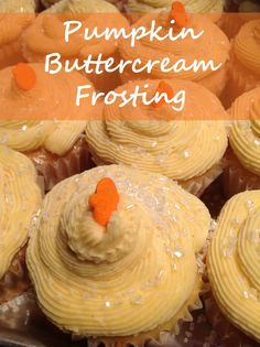Top a vanilla cupcake with this Pumpkin Buttercream Frosting for a tasty fall treat. People will love it!