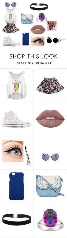 """m,"" by mariana-mari-1 on Polyvore featuring moda, Converse, Lime Crime, Luminess Air, Linda Farrow, Dolce&Gabbana, T-shirt & Jeans, Rainbow e Bling Jewelry"
