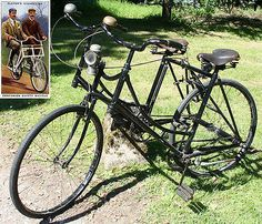 1910s Sociable SIDE-BY-SIDE TANDEM Ready to Ride Vintage Antique Bicycle Bike