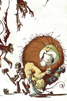 25 Various Styles of The Wizard of Oz Illustrations   The Design Inspiration. Skottie Young