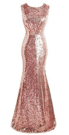 dca2b1772b6c Ellames Women's Sequin Party Dress: Amazon.co.uk: Clothing. Rose Gold  BridesmaidMermaid Bridesmaid DressesWedding Guest ...