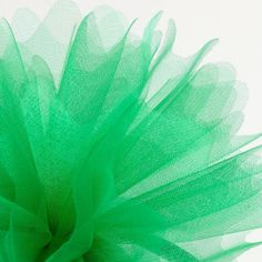 50 Emerald Green Peaked Edge Organza Tulle Nets