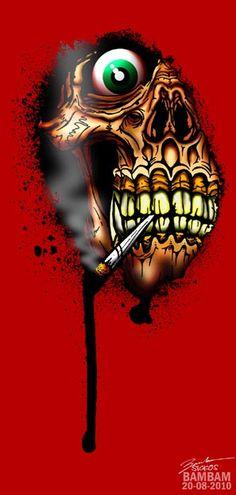 SKULLS - stoner skull by ~gorillarium on deviantART