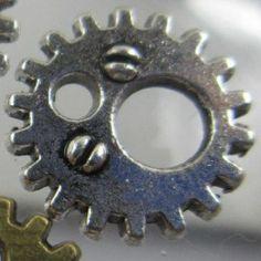 Breloque Métal - Mini Rouage Argenté 11mm