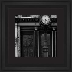 Clock Stand Framed Print, Black, Classic, None, Black, Single piece, 12 x 12 inches, White